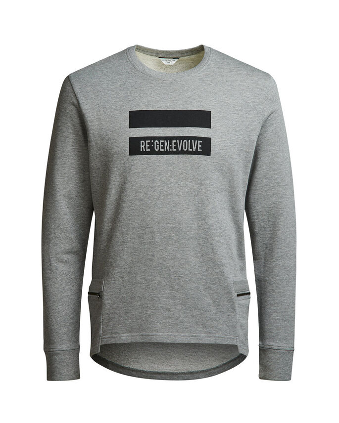 DETALJERET SWEATSHIRT, Light Grey Melange, large
