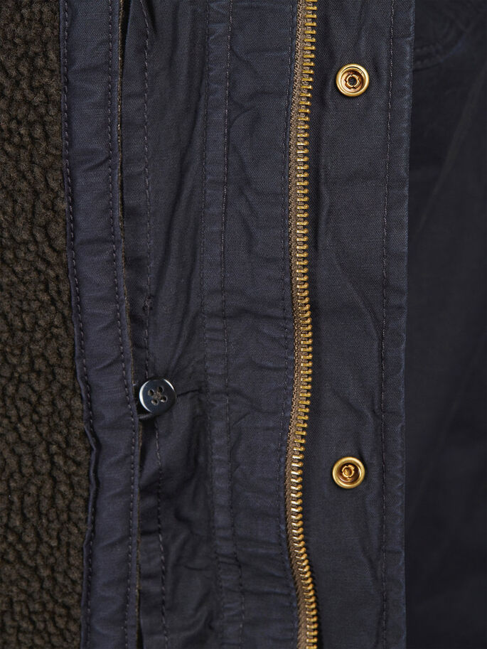 FISHTAIL PARKA COAT, Caviar, large
