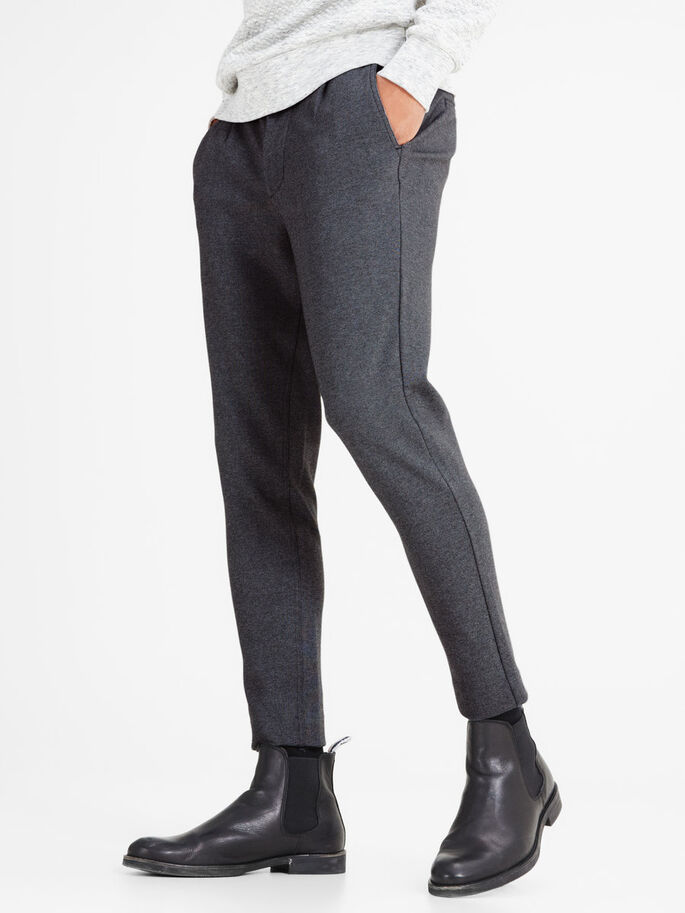 TAILORED SWEAT PANTS, Dark Grey Melange, large