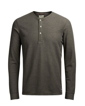 GRANDDAD COLLAR LONG-SLEEVED T-SHIRT