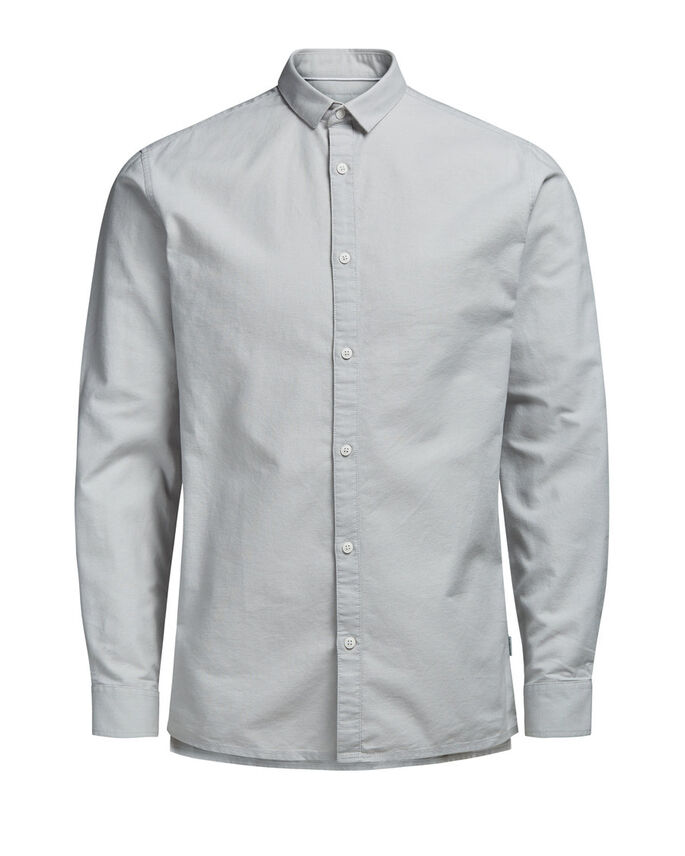 OXFORD LONG SLEEVED SHIRT, Oyster Mushroom, large