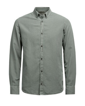 BUTTON-DOWN OXFORD OVERHEMD MET LANGE MOUWEN