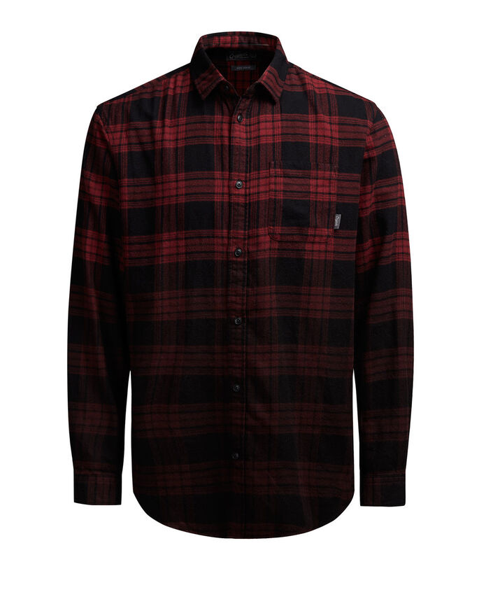CHECK LONG SLEEVED SHIRT, Syrah, large