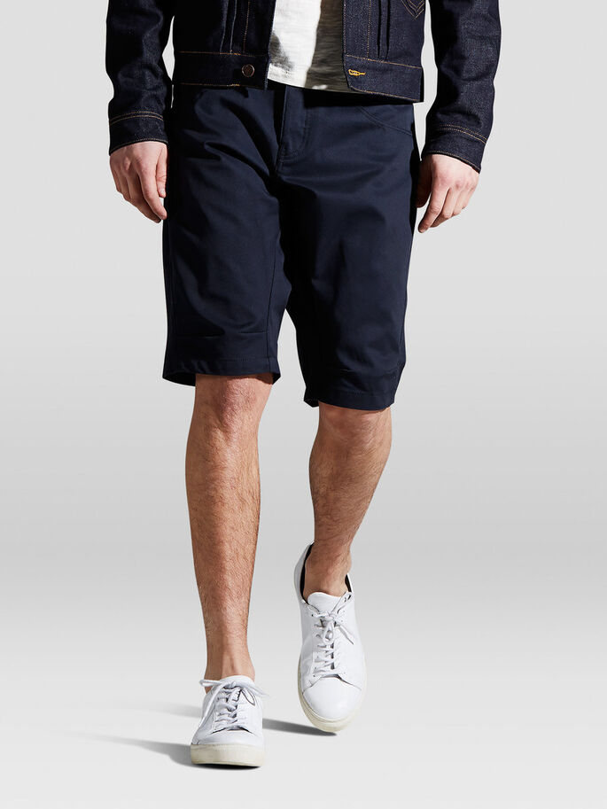 LESTER LONG SHORTS, Navy Blue, large