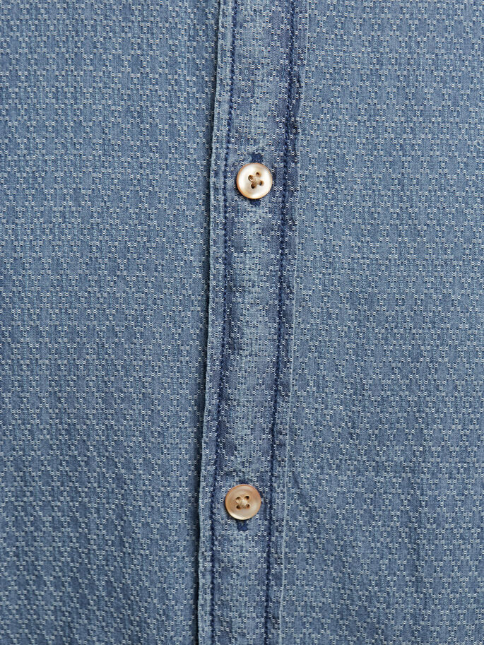 STRUCTURED DENIM SHIRT, Mood Indigo, large