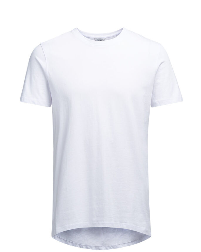 LONG LINE T-SHIRT, White, large