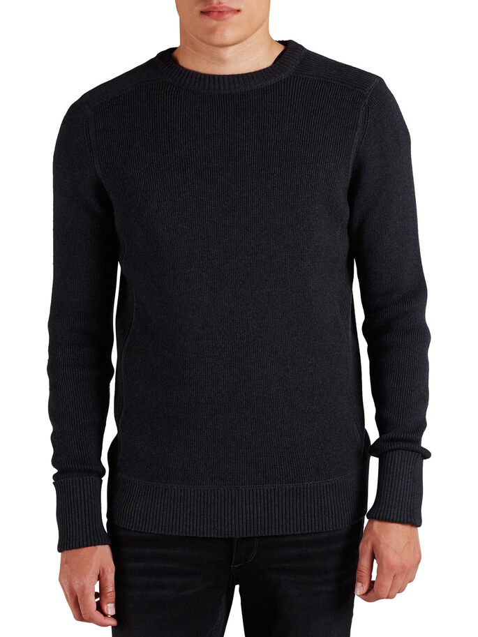 C-90 KNITTED PULLOVER, Blue Graphite, large