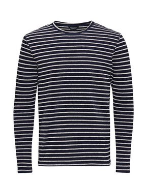 STRIPED COTTON PIQUE SWEATSHIRT