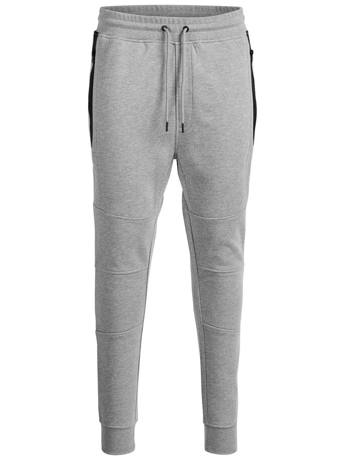 TIGHT FIT SVETARIHOUSUT, Light Grey Melange, large