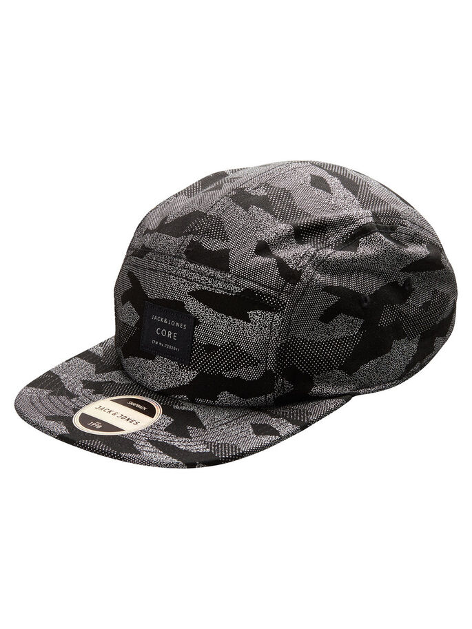 SNAP BACK CAP, Black, large