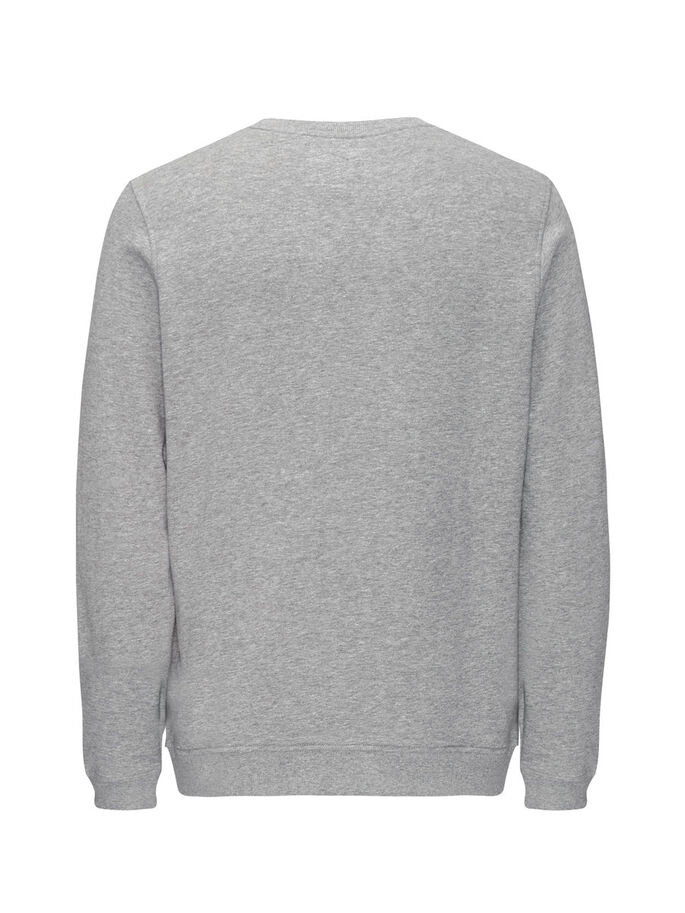 STATEMENT SWEATSHIRT, Light Grey Melange, large