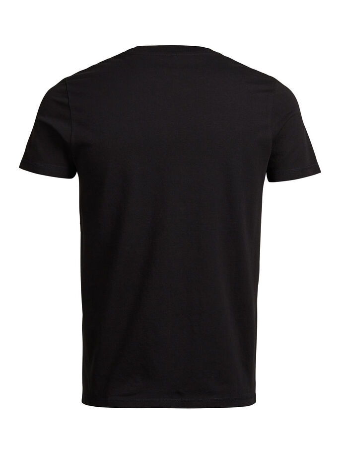 FRESH PRINT T-SHIRT, Black, large