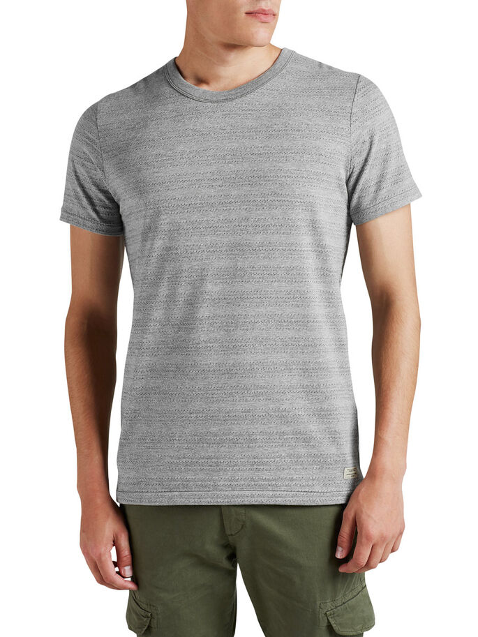 PUNKTMUSTER- T-SHIRT, Light Grey Melange, large