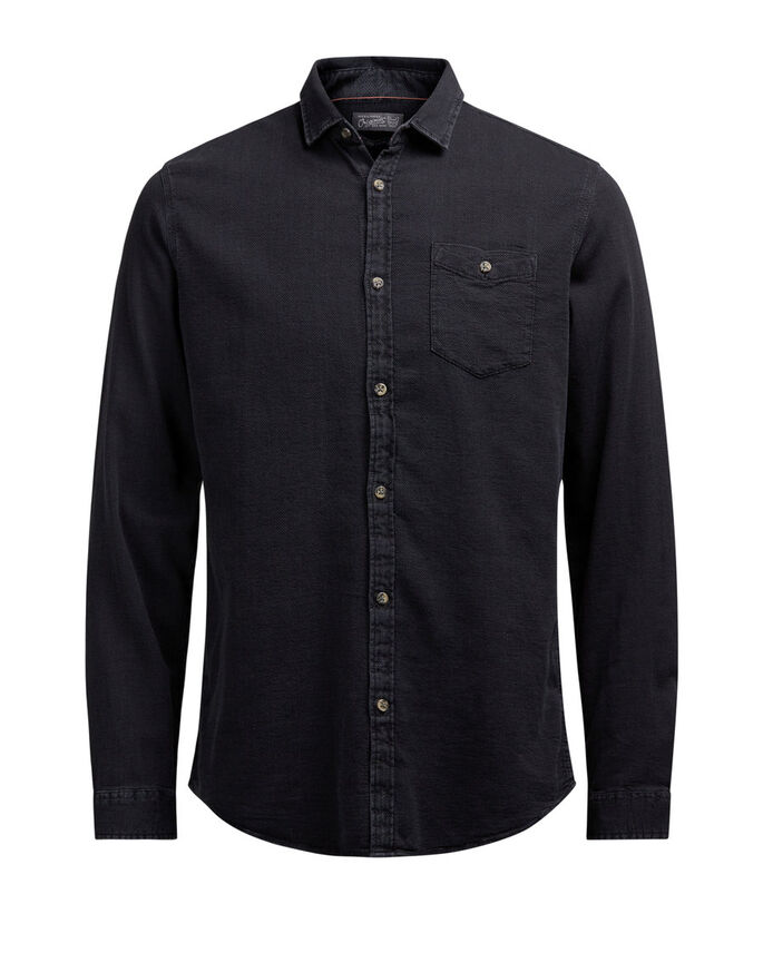STRUCTURE LONG SLEEVED SHIRT, Black, large