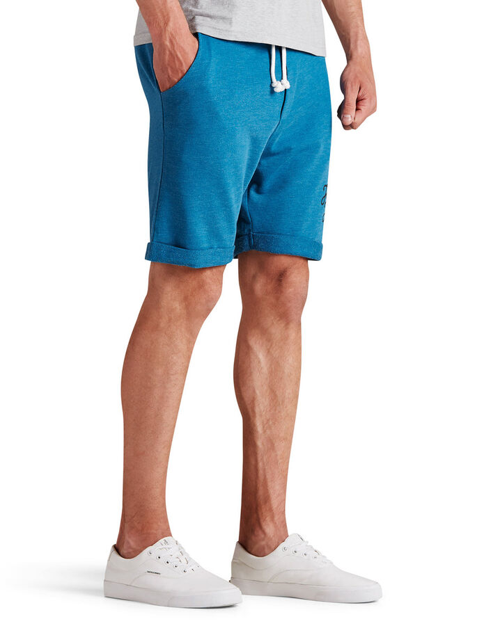 TIGHT-FIT- SWEATSHORTS, Mykonos Blue, large