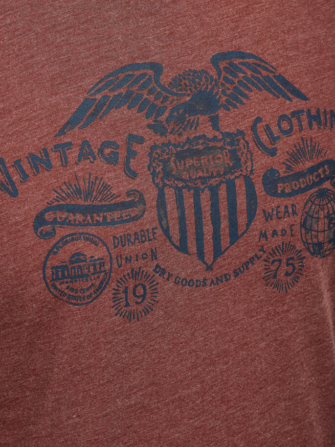 PRINTED T-SHIRT, Fired Brick, large