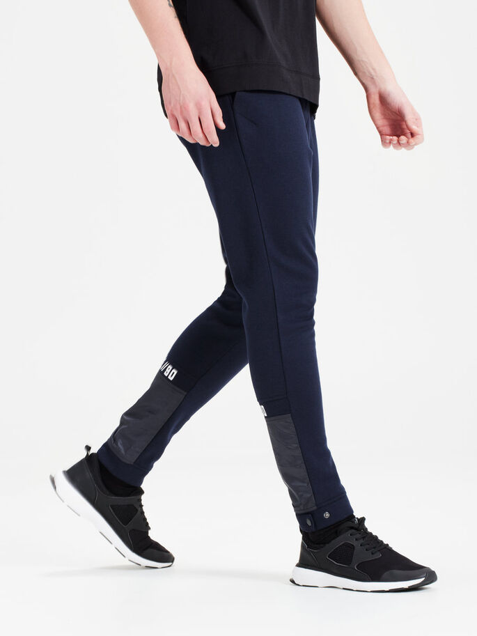DETAILED SWEAT PANTS, Sky Captain, large