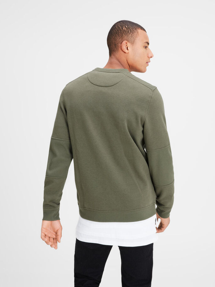DÉTAILS SWEAT-SHIRT, Deep Lichen Green, large