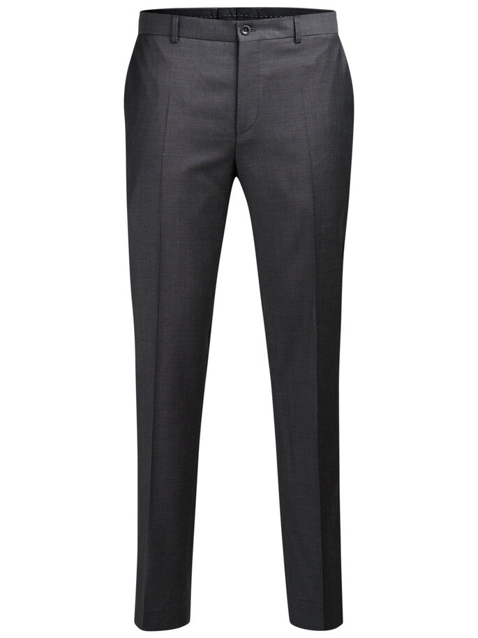 SUPER 110S WOOL TROUSERS, Dark Grey, large
