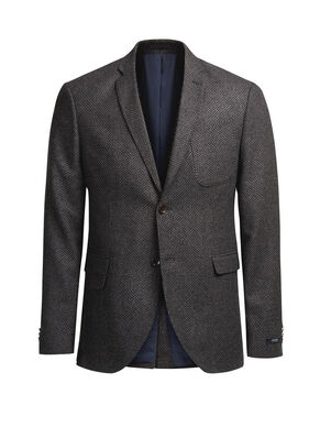 PATTERNED WOOL BLAZER