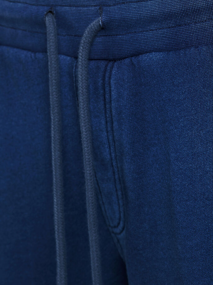 SWEAT SHORTS EN MOLLETON, Mood Indigo, large