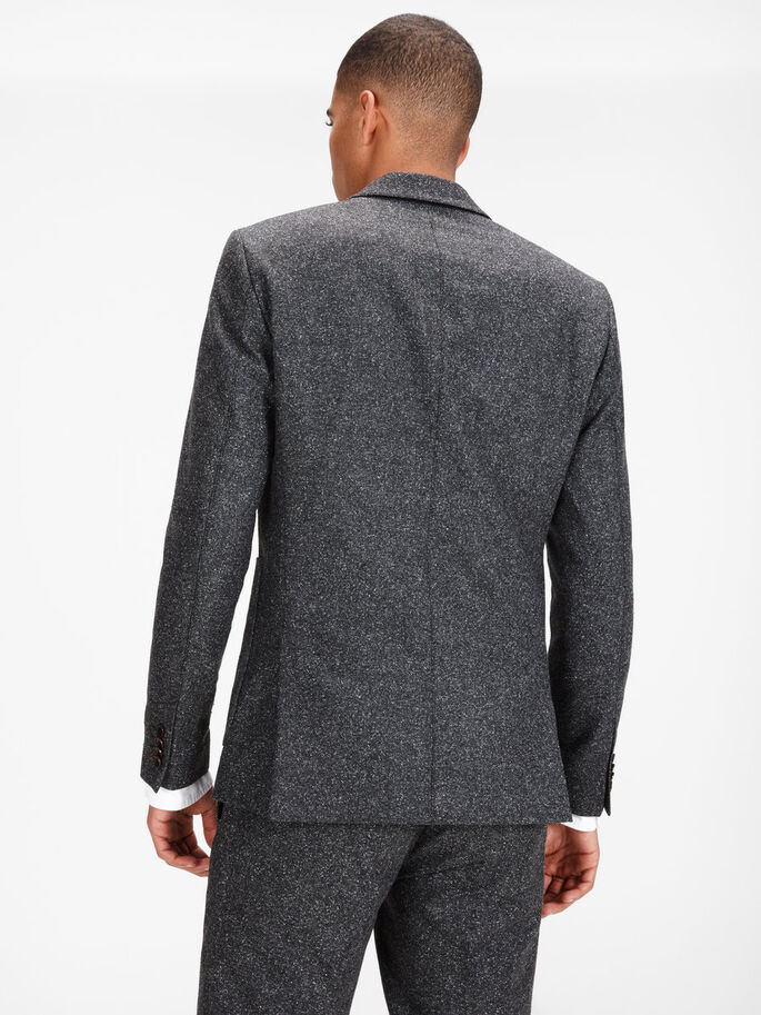 MOTEADO BLAZER, Dark Grey, large