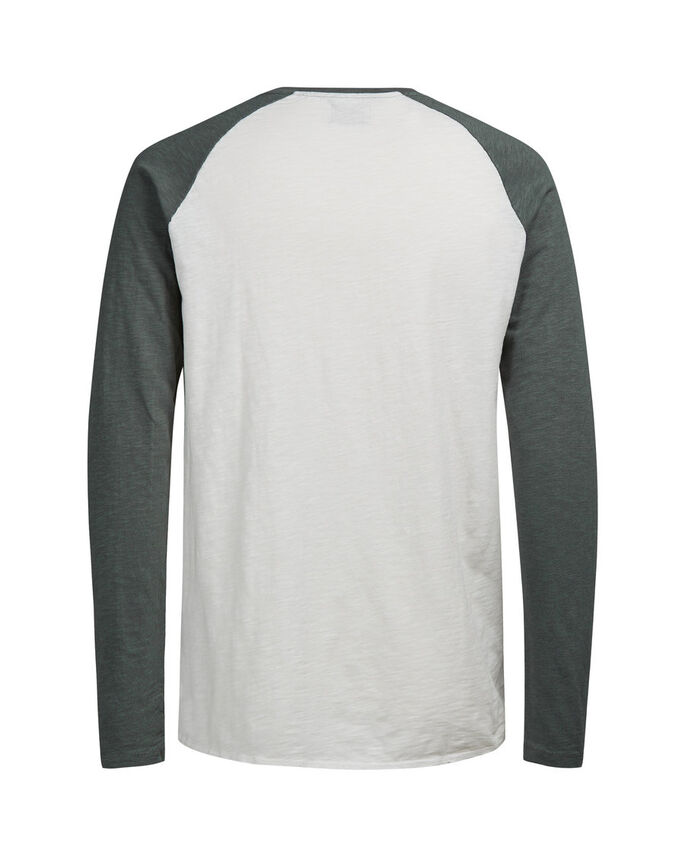 RAGLAN BICOLORE T-SHIRT À MANCHES LONGUES, Castor Gray, large