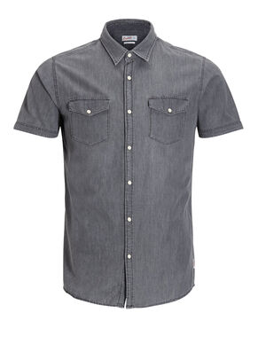IN DENIM CAMICIA A MANICHE CORTE
