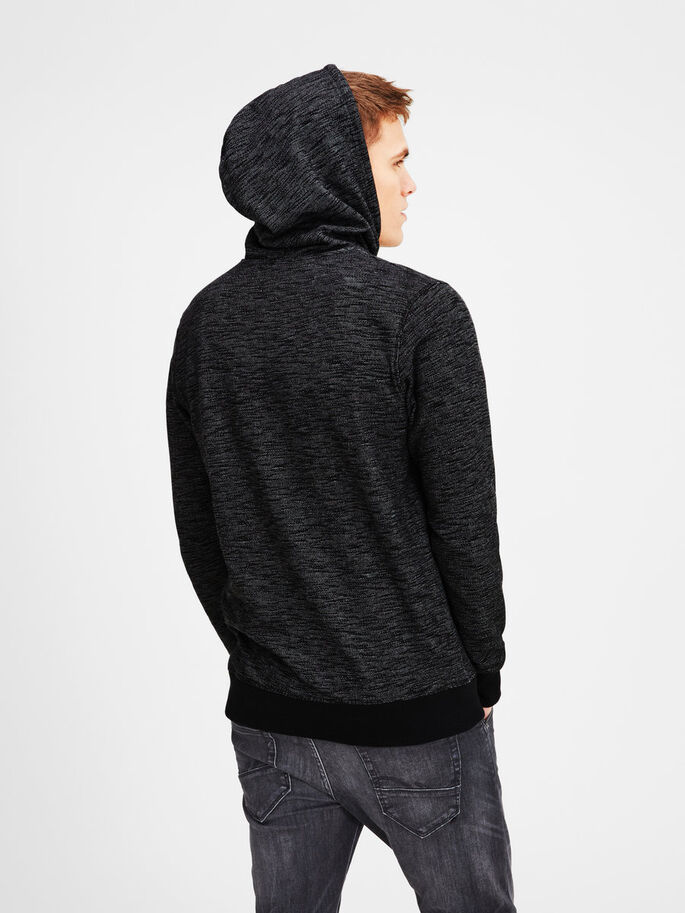 DÉCONTRACTÉ SWEAT À CAPUCHE, Dark Grey Melange, large