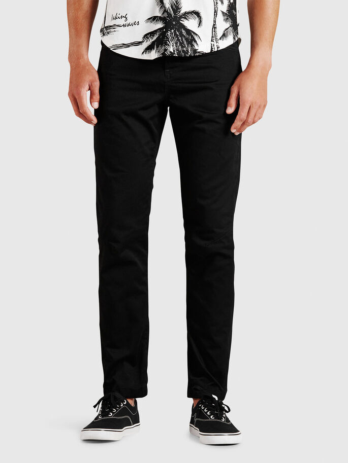 ANTI-FIT CHINOS, Black, large
