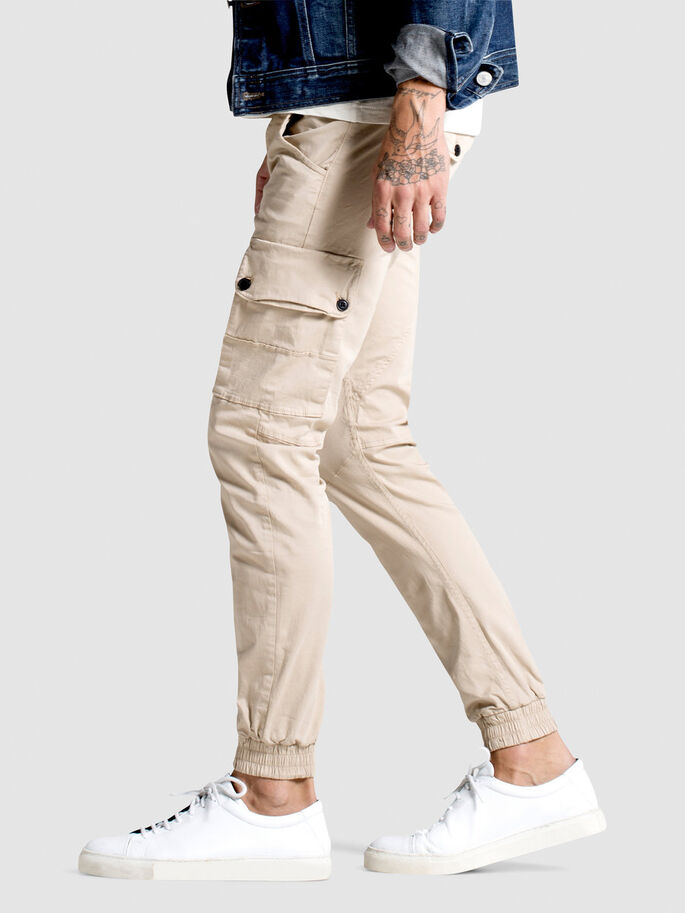 PAUL WARNER AKM 168 CARGO PANTS, Humus, large