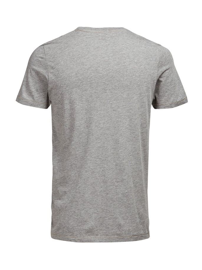 PRINTET T-SKJORTE, Light Grey Melange, large