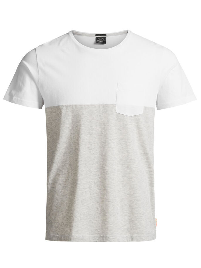 CASUAL T-SHIRT, White, large