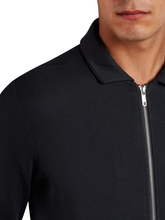 MINIMALISTE SWEAT ZIPPÉ, Black, large
