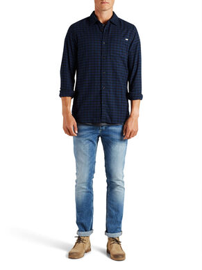 CHEQUERED FLANNEL CASUAL SHIRT