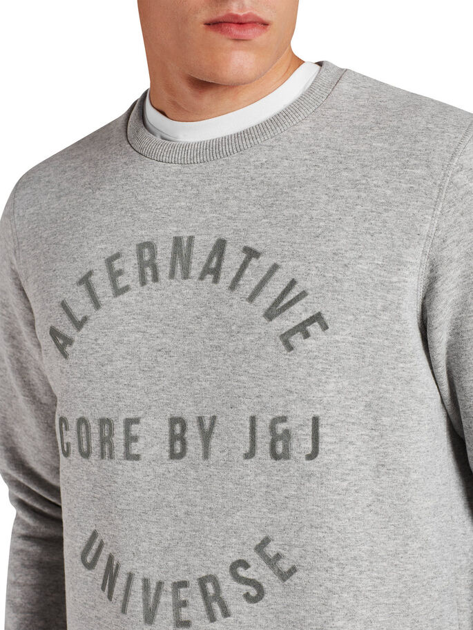 GRAPHIQUE SWEAT-SHIRT, Light Grey Melange, large