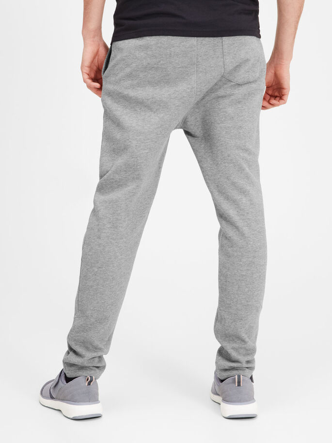 REGULAR FIT SWEAT PANTS, Light Grey Melange, large