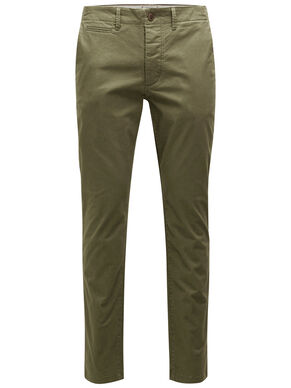 MARCO ENZO WW OLIVE NIGHT CHINOS