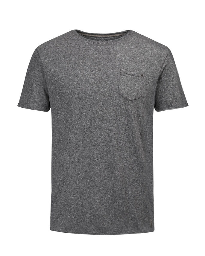 GEMÊLEERD T-SHIRT, Dark Grey Melange, large