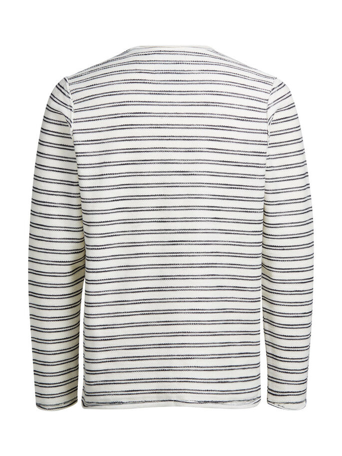 STRIPED SWEATSHIRT, Whisper White, large
