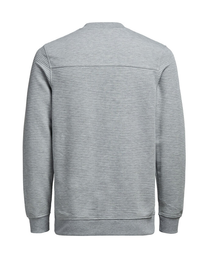 STRUCTURE SWEATSHIRT, Light Grey Melange, large
