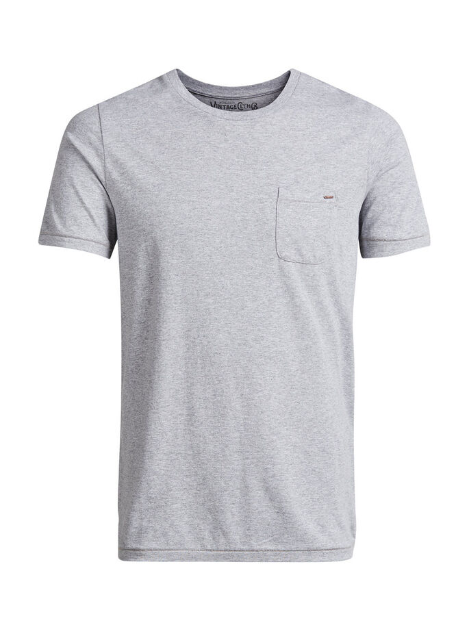 BASIS T-SHIRT, Light Grey Melange, large