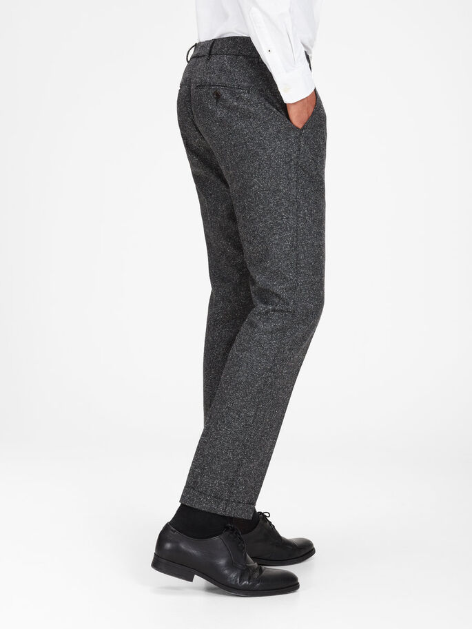 MELANGE- HOSE, Dark Grey, large
