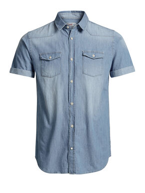 DENIM SHORT SLEEVED SHIRT