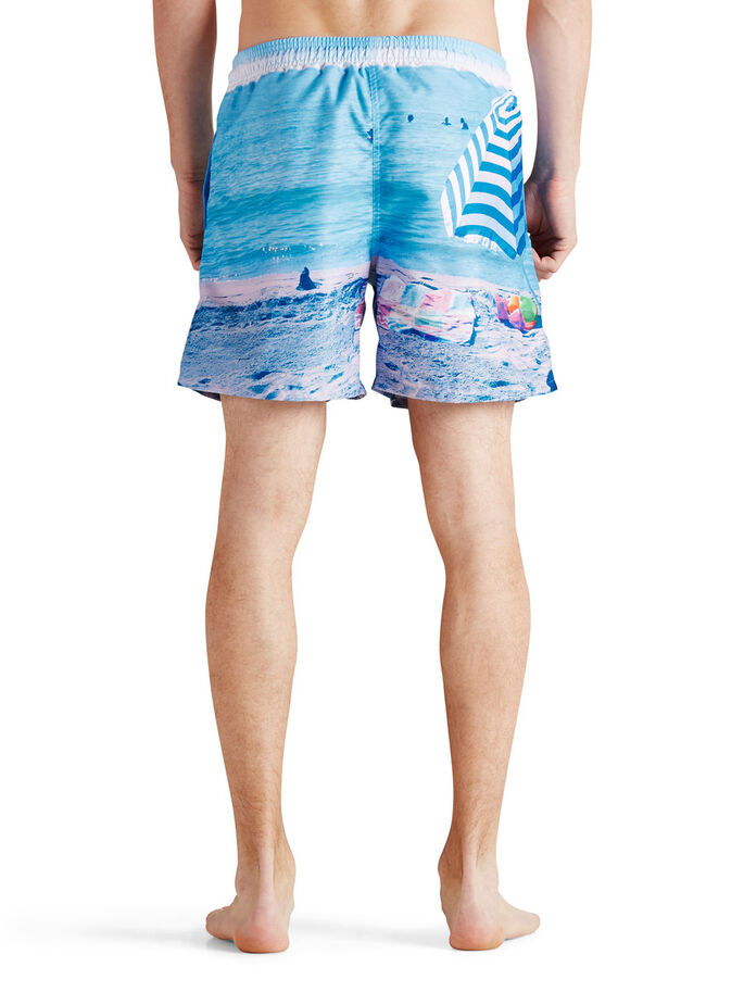 FOTOPRINT BADESHORTS, Bluebird, large