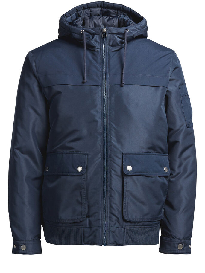 PADDED JACKET, Navy Blazer, large