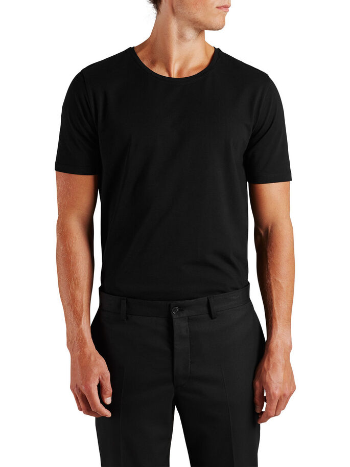 QUALITÉ T-SHIRT, Black, large