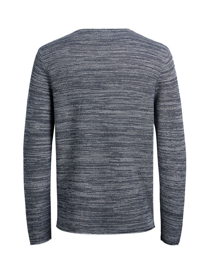 VERSATILE KNITTED PULLOVER, Light Grey Melange, large