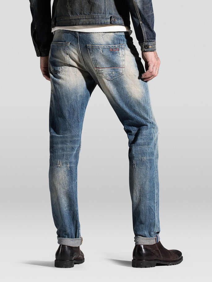 MIKE ICON RDD R096 JEAN COUPE CONFORT, Blue Denim, large