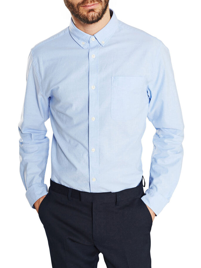 CLASSIC OXFORD LONG SLEEVED SHIRT, Cashmere Blue, large